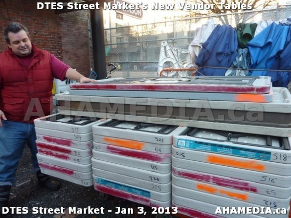 29 AHA MEDIA sees DTES Street Market new vendor tables in Vancouver on Jan 3, 2013