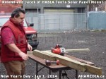 31 AHA MEDIA sees HXBIA Tool test fit solar panel mount on New Year Day Jan 1, 2014