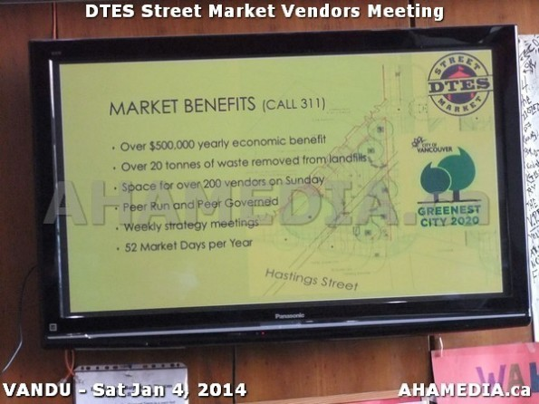 32 AHA MEDIA sees DTES Street Market Vendor Meeting on Sat Jan 4, 2014 in Vancouver