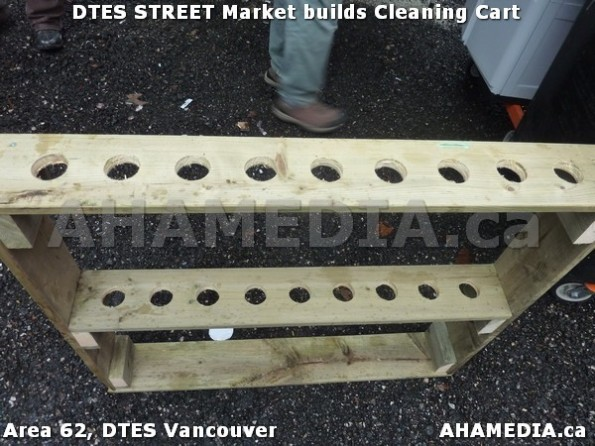 3a AHA MEDIA sees Jacek Lorek build a cleaning cart for DTES Street Market in Vancouver