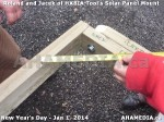 45 AHA MEDIA sees HXBIA Tool test fit solar panel mount on New Year Day Jan 1, 2014
