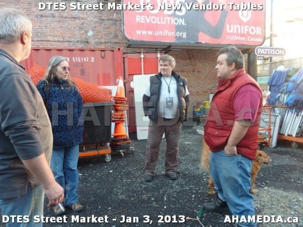 5 AHA MEDIA sees DTES Street Market new vendor tables in Vancouver on Jan 3, 2013