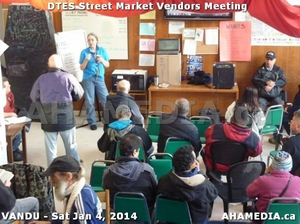 52 AHA MEDIA sees DTES Street Market Vendor Meeting on Sat Jan 4, 2014 in Vancouver