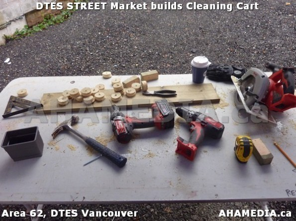 52 AHA MEDIA sees Jacek Lorek build a cleaning cart for DTES Street Market in Vancouver