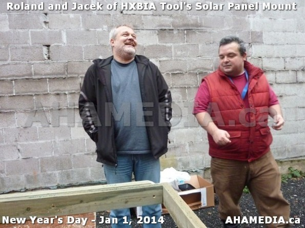 56 AHA MEDIA sees HXBIA Tool test fit solar panel mount on New Year Day Jan 1, 2014