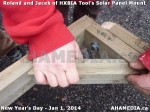68 AHA MEDIA sees HXBIA Tool test fit solar panel mount on New Year Day Jan 1, 2014