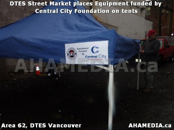 7 AHA MEDIA sees DTES Street Market place Sponsorship by Central City Foundation on Tents
