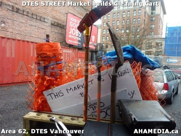 7 AHA MEDIA sees Jacek Lorek build a cleaning cart for DTES Street Market in Vancouver