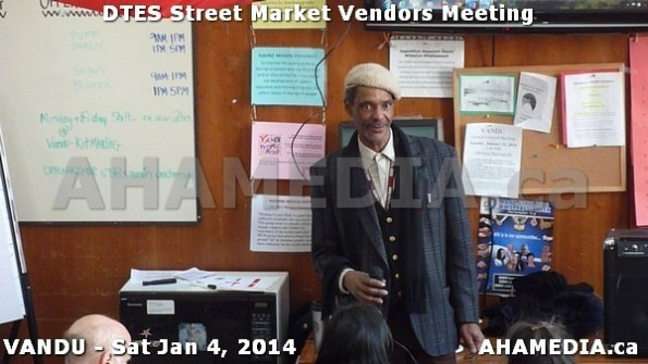 78 AHA MEDIA sees DTES Street Market Vendor Meeting on Sat Jan 4, 2014 in Vancouver