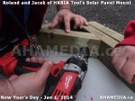 79 AHA MEDIA sees HXBIA Tool test fit solar panel mount on New Year Day Jan 1, 2014