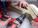 80 AHA MEDIA sees HXBIA Tool test fit solar panel mount on New Year Day Jan 1, 2014