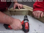 82 AHA MEDIA sees HXBIA Tool test fit solar panel mount on New Year Day Jan 1, 2014
