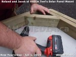 88 AHA MEDIA sees HXBIA Tool test fit solar panel mount on New Year Day Jan 1, 2014