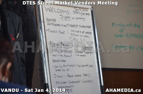 9 AHA MEDIA sees DTES Street Market Vendor Meeting on Sat Jan 4, 2014 in Vancouver