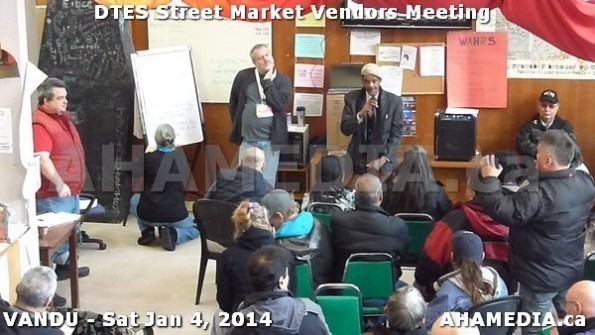 96 AHA MEDIA sees DTES Street Market Vendor Meeting on Sat Jan 4, 2014 in Vancouver