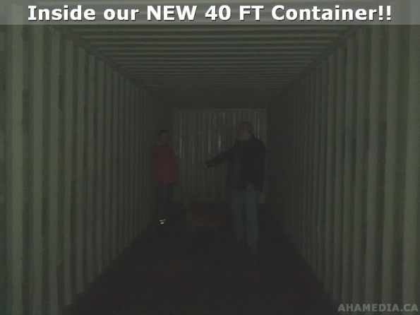 Inside 40 FT containter