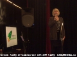 180 AHA MEDIA at  Green Party of Vancouver Lift-Off Party on Wed March 5,2014