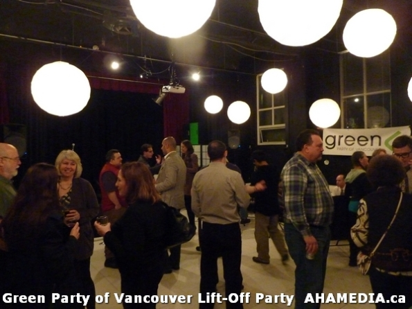 78 AHA MEDIA at  Green Party of Vancouver Lift-Off Party on Wed March 5, 2014