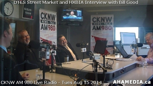 16 AHA MEDIA at Roland Clarke, Jacek Lorek of DTES Street Market, Wes Regan of HXBIA on Bill Good Show