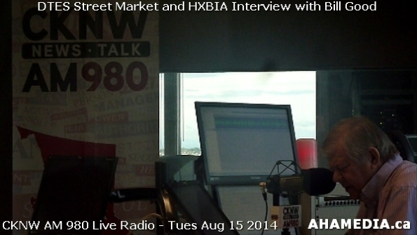 19 AHA MEDIA at Roland Clarke, Jacek Lorek of DTES Street Market, Wes Regan of HXBIA on Bill Good Show