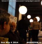 14 AHA MEDIA at 2014 Green Party of Vancouver Council Candidate Nomination Meeting and Campaign Launch