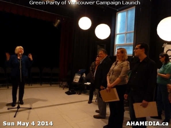5 AHA MEDIA at 2014 Green Party of Vancouver Council Candidate Nomination Meeting and Campaign Launch