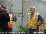 12 AHA MEDIA sees Truck drop off 40ft Storage Container for DTES Street Market in Vancouver