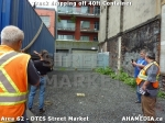 20 AHA MEDIA sees Truck drop off 40ft Storage Container for DTES Street Market in Vancouver