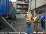 21 AHA MEDIA sees Truck drop off 40ft Storage Container for DTES Street Market in Vancouver