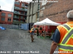 28 AHA MEDIA sees Truck drop off 40ft Storage Container for DTES Street Market in Vancouver