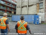 30 AHA MEDIA sees Truck drop off 40ft Storage Container for DTES Street Market in Vancouver