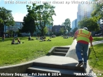 31 AHA MEDIA sees DTES Street Market crew clean up Victory Square inVancouver