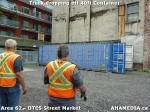 31 AHA MEDIA sees Truck drop off 40ft Storage Container for DTES Street Market in Vancouver