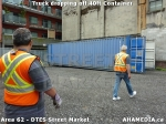 32 AHA MEDIA sees Truck drop off 40ft Storage Container for DTES Street Market in Vancouver