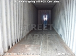 35 AHA MEDIA sees Truck drop off 40ft Storage Container for DTES Street Market in Vancouver