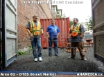 37 AHA MEDIA sees Truck drop off 40ft Storage Container for DTES Street Market in Vancouver