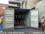 38 AHA MEDIA sees Truck drop off 40ft Storage Container for DTES Street Market in Vancouver