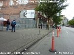 4 AHA MEDIA sees Truck drop off 40ft Storage Container for DTES Street Market in Vancouver