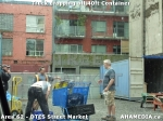 40 AHA MEDIA sees Truck drop off 40ft Storage Container for DTES Street Market in Vancouver