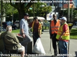 44 AHA MEDIA sees DTES Street Market crew clean up Victory Square inVancouver