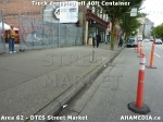 9 AHA MEDIA sees Truck drop off 40ft Storage Container for DTES Street Market in Vancouver