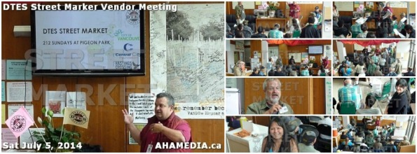 0 DTES Street Market Vendor Meeting July 5 2014