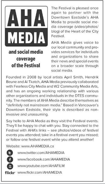 AHA MEDIA for Heart of the City Festival 2014
