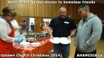 16 Keith Smith serves dinner to homeless friends at Uptown Church Christmas 2014
