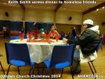 18 Keith Smith serves dinner to homeless friends at Uptown Church Christmas 2014