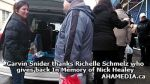 2 Garvin Snider thanks Richelle Schmelz who gives back In Memory of Nick Healey