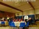 22 Keith Smith serves dinner to homeless friends at Uptown Church Christmas2014