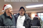 3 AHA MEDIA at Willow Addictions Rehabilitation Society giving back to the DTES