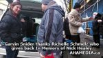 3 Garvin Snider thanks Richelle Schmelz who gives back In Memory of Nick Healey