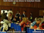 32 Keith Smith serves dinner to homeless friends at Uptown Church Christmas 2014